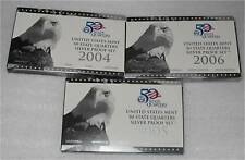 2004, 2005, 2006 USA SILVER 1/4 DOLLAR, 25 CENTS  50 STATES PROOF 94 gr.  SCRAP!