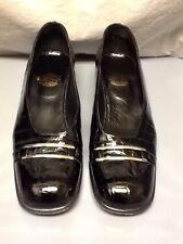 Espace Crocodile-Embossed Black Patent Leather Heels 10