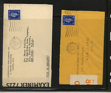 Great Britain 2 censor covers to Ny one cover orange tape Ms0904
