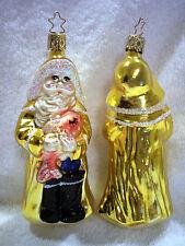Gloucester Santa,Old World Christmas,Inge-Glas,Blown Glass,Germany,Retired