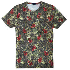 Brave Soul Palm Mens T Shirt New Hawaiian All Over Flowers Leaves Print Tee Top