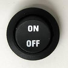 12V ON/OFF MARKING ROUND ROCKER SWITCH TOGGLE SPST Black On Off fu