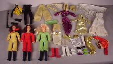 1977 Charlie's Angels 3 Dolls Kelly Sabrina Kris & extra Hasbro fashions & shoes
