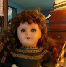 Antique French Unis 301 Papier Mache Doll In Original Clothing-1