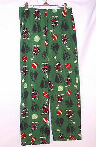 Disney Pajama Bottoms Medium Lounge Wear Mickey Christmas