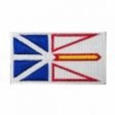 NEWFOUNDLAND NFLD PROVINCIAL FLAG SMALL IRON ON PATCH CREST BADGE ... CANADIAN P