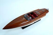 "Alpha Z Handmade Wooden Race Boat Model 36"" NEW"