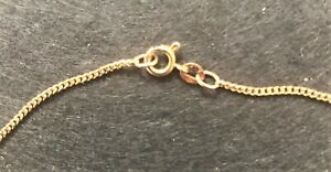 9ct gold chain stamped .375 necklace 62 cms long as new