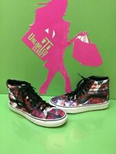 6ed5aa2443 VANS Sk8 Hi Multi-Color Floral Canvas Lace Up Skate Shoes Men Size 7 Womens