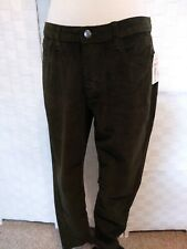 Per Se Wimens Olive Green Velour 5 Pocket Pants Sz 10 NWT Reg $59
