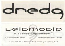 DREDG 2001 Interscope Records Leitmotif promotional sticker MINT NEW old stock