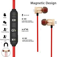 Bluetooth 4.1 Stereo Earphone Headset Magnetic Sport In-Ear Earbuds With Mic H