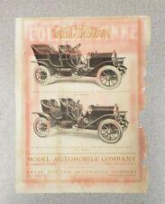 1910 Great Western Sales Sheet