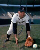Dick Tracewski Signed 8X10 Photo Autograph Detroit Tigers Pose w/Glove Auto COA