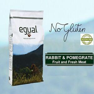 GLUTEN FREE EGUAL RABBIT & POMEGRATE senza glutine 75% di proteine animali 15Kg