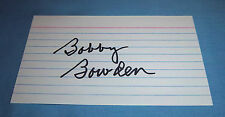 Florida State Bobby Bowden Signed Autographed Index Card HOF 2006 B