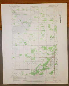 "Badger, Minnesota Original Vintage 1966 USGS Topo Map 27"" x 22"""