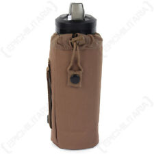 Dark Coyote MOLLE Water Bottle Cover - Army Military Case Drinks Insulating New