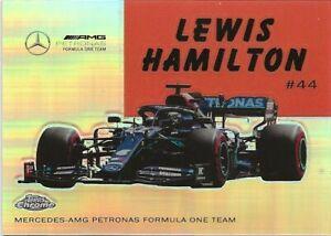 M4) 2020 Topps Chrome Formula 1 Lewis Hamilton World of Wheels Refractor SP