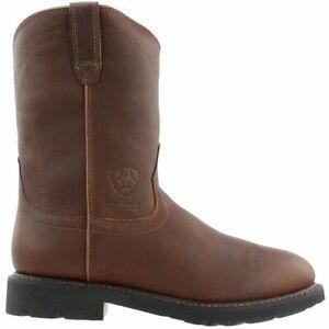 Ariat Men's Sierra H20 Waterproof Soft Toe Work Western  Boots 10002385