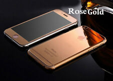 Colorful Mirror Tempered Glass Front + Back Screen Protector For iPhone 5/6/7/SE