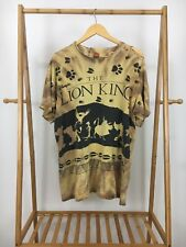 VTG The Lion King Disney Jerry Leigh All Over Print Distressed T-Shirt Size XL