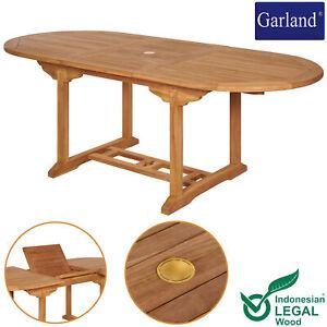 Gartentisch Terrassentisch Esstisch Teak Holz Ausziehbar Gartenmöbel 150 - 200cm