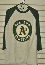 Oakland A's shirt Vintage 90s 3/4 Sleeve NEW sz XL MINT Dead Stock Athletics nwt