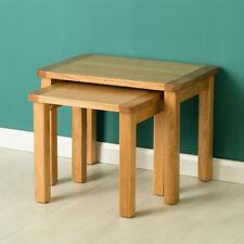 Hampshire Oak Nest of Tables / Light Oak Lamp Tables / Solid Wood Side Tables