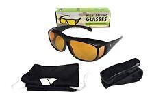 Gafas de conducción nocturna-Visión Nocturna, antirreflejo-con Clip Holder-Wear con