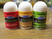 Lot of 12 OraLabs Essential Lip Naturals Mini-Lip Balms Three Flavors!