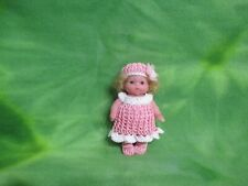 """BERENGUER 5"""" MY SWEET LOVE BABY CROCHET OUTFIT KEMPER MOHAIR SHIRLEY TEMPLE WIG"""