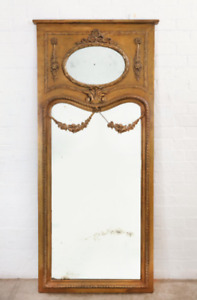 Early 20th Century French Louis XVI Style Tall Floor Giltwood Mirror