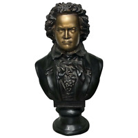 Fine Quality 20th Century Bronze Composer Ludwig Van Beethoven Bust Sculpture