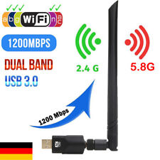1200Mbps USB 3.0 Dual WiFi Adapter 2.4/5.8GHz Band WLAN Empfänger Stick Dongle