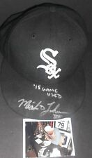 Micah Johnson Chicago White Sox Signed 2015 Game Used Hat Cap