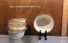 Vintage ☆ LENOX Bouillon Liners ☆ Decoration #86 Cream, Gold Trim ☆ 6 AVAILABLE