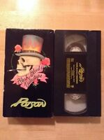 "Poison ""Flesh Blood And Videotape"" VHS Format 1991 - ue"