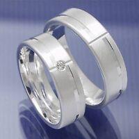 1 Paar Silber Trauringe Partnerringe Freundschaftsringe Verlobungsringe P4088451