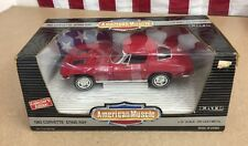 American Muscle 1:18 Scale1963 Corvette Sting Ray Die Cast  Model Car RED #7359