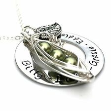 Personalised Jewellery for Mums, Birthday Gift, Pea Pod Jewellery, Necklace