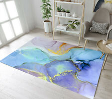 Colorful Abstract Painting Background Marble Area Rugs Living Room Floor Mat Rug