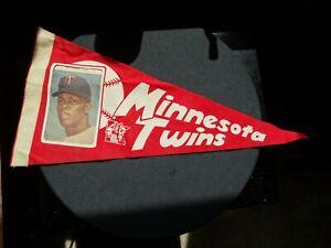 MLB 1969 ROD CAREW MINNESOTA TWINS 19 1/2 inch BASEBALL PICTURE PENNANT