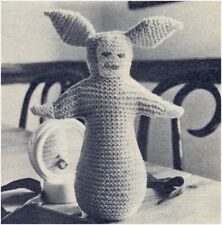 Baby Bunting Bell-bottomed Bunny Soft Toy 4 Ply Vintage Knitting Pattern 10157