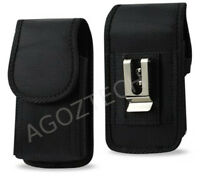 Vertical Rugged Cover Case Holster Pouch With Belt Clip & Loops for Insulin Pump