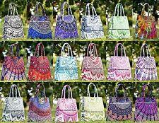 30 PC LOT Mandala Tote Bag Shoulder Handbag Indian Cotton Women Purse Shopping