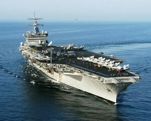USS ENTERPRISE AIRCRAFT CARRIER NAVY 8x10 SILVER HALIDE PHOTO PRINT