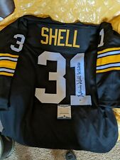 AUTOGRAPHED DONNIE SHELL PITTSBURGH STEELERS PRO STYLE NFL JERSEY~BECKETT COA