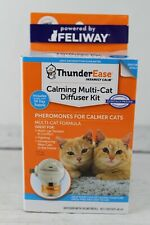 Thunder Ease Calming Multi-Cat Pheromone Diffuser Kit with 30 Day Refill New