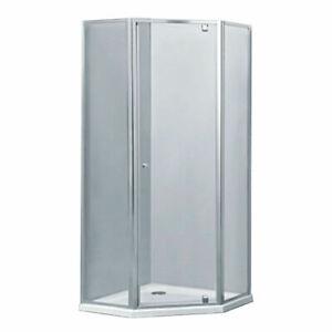 900*900*1900mm Semi Frame Shower Screen Diamond Corner Door Handle